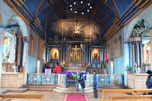 inside Achao church