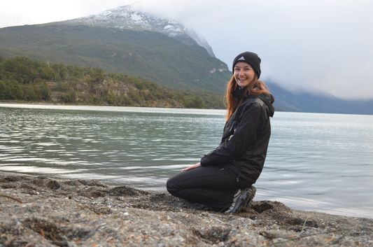 me at Lago Acigami in Tierra del Fuego national park