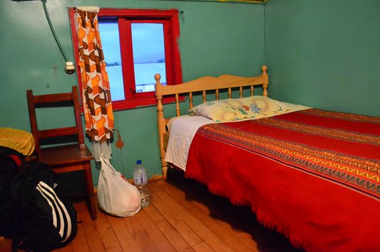 my room in a local accommodation in Cucao in Chiloe National Park