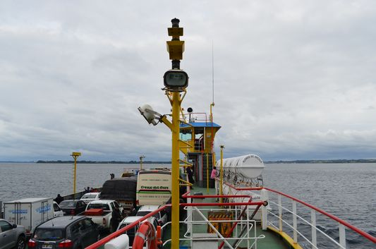 on the ferry to Chacao - Chiloe island