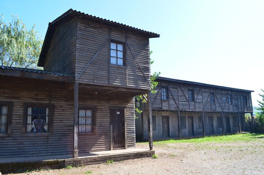 one of the buildings in Pueblito Minero from Subterra movie