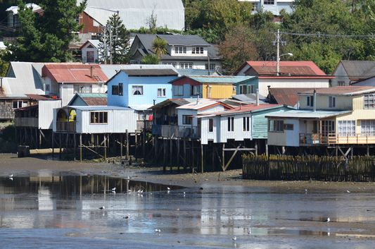 stilt houses in Castro