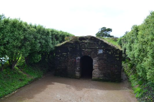 the Spanish fortification used for munition in Ancud