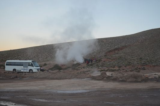 the first fumarola we saw in The Tatio Geysers