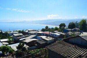 the view of Lota and Playa Blanca