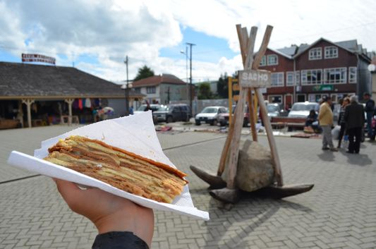 torta chilota in Dalcahue