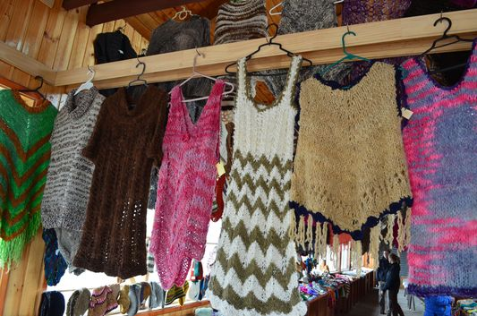 woolen jumpers made by locals in Achao