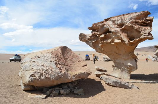 Arbol de Piedra from the side