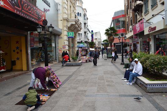 Juan Alberdi walking street in Salta