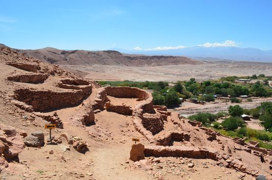 Pukara de Quitor ruins from the middle