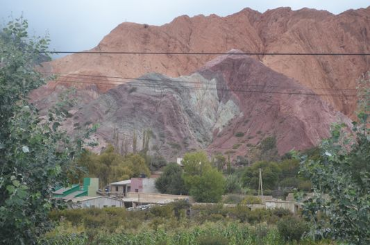 Purmamarca town with colourful hills