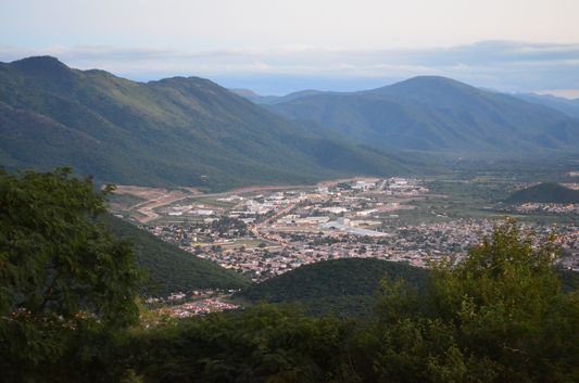 Salta town and the hills