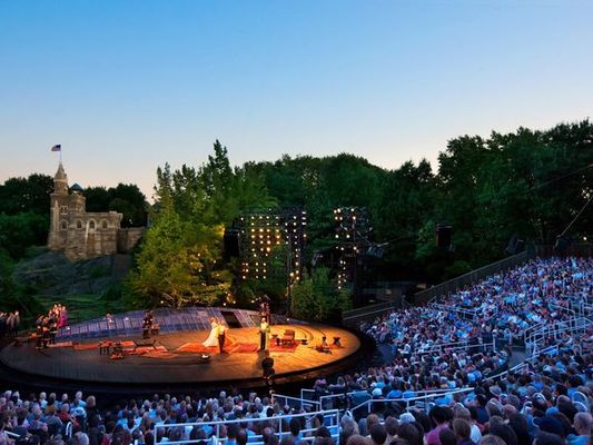 Shakespeare theater in Central Park in New York