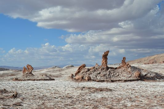 Tres Marias rock formations in Moon Valley