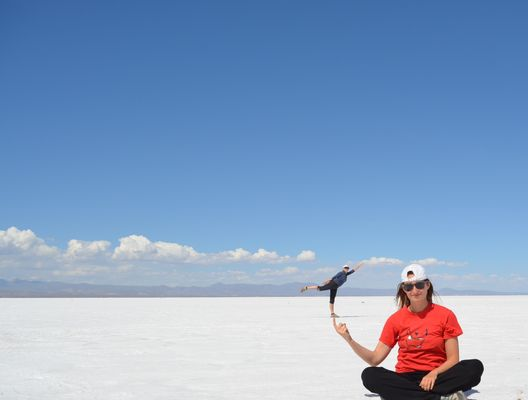 Uyuni Salt Flat optical illusions