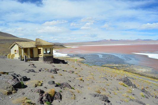 Viewpoint Aguas Calientes at Laguna Colorada