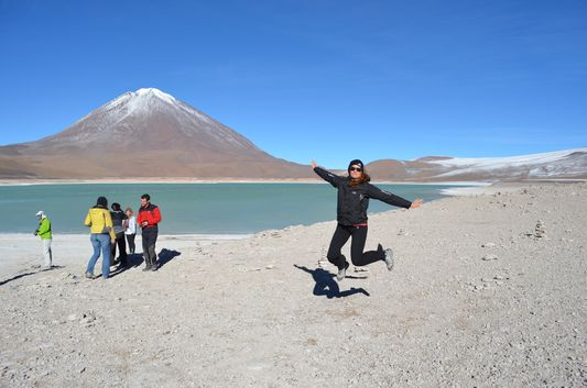 a jumping shot at Laguna Verde