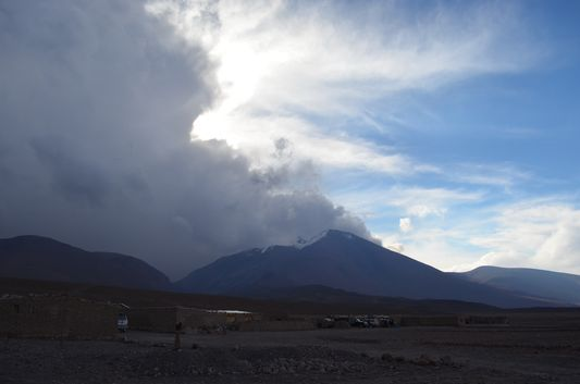 a storm coming to Huayllajara village