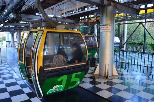 cable car to San Bernardo hill