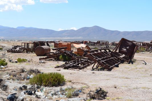 cool Train Cemetery close to Uyuni