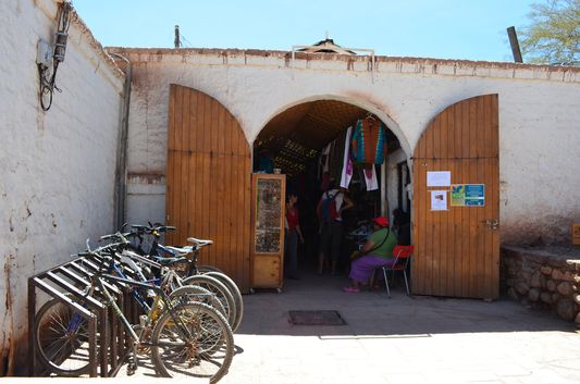 entrance to Feria Artesanal in San Pedro de Atacama