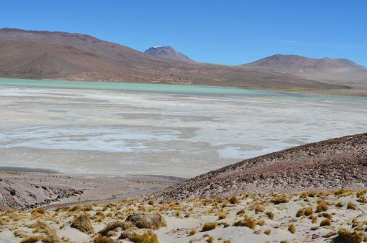 half dry Laguna Capina