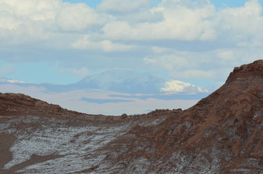 in the Moon Valley overlooking the Andes