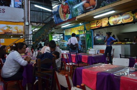 inside Mercado Municipal in Salta