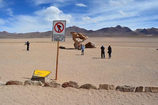 just got to Arbol de Piedra in Desierto Siloli