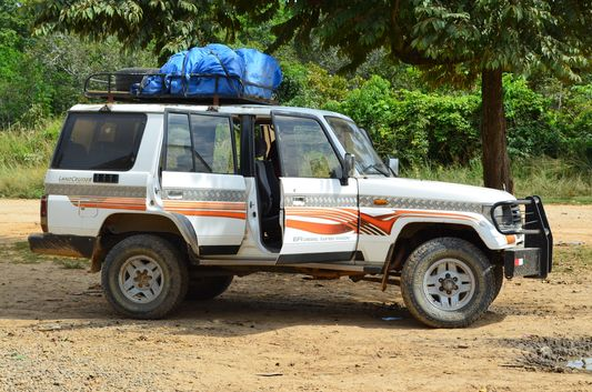 our 4x4 jeep from Rurrenabaque to Santa Rosa