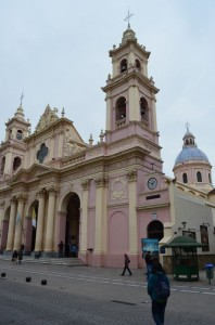 pinky Cathedral in Salta