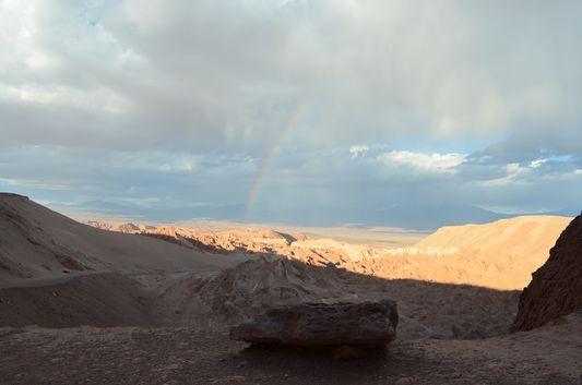 rainbow above Valle de la Muerte