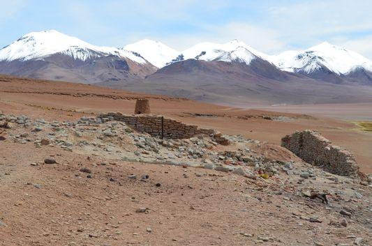 ruins at Cachi lagoon