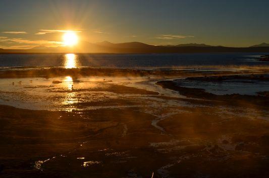 sunrise above Laguna Salada