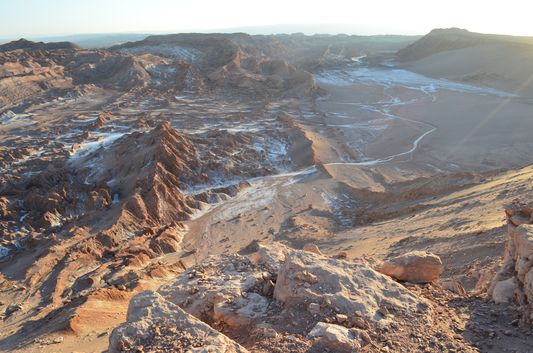 the Moon Valley covered by salt