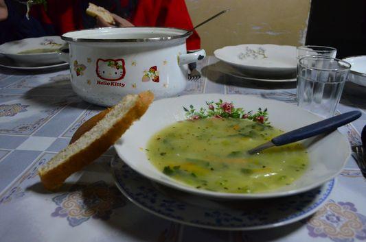 vegetable soup for dinner