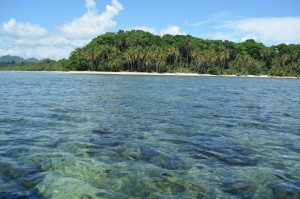 Cahuita National Park from the sea