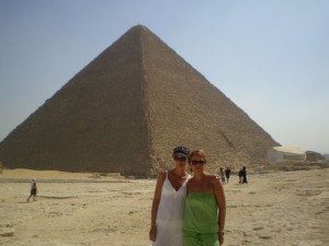 with my mum in Egypt