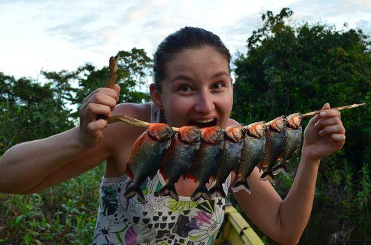 piranhas we caught for dinner
