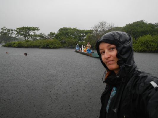 raining in Yacuma river
