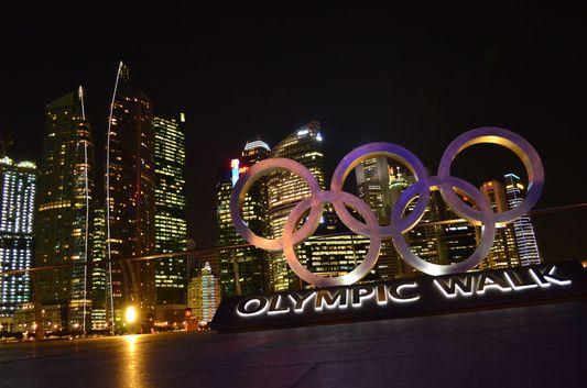 Olympic walk in Singapore