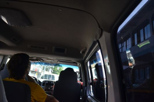 inside Caribe Shuttle van