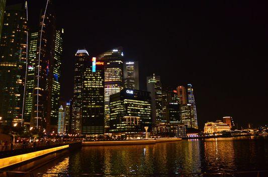 skyscrapers in Singapore