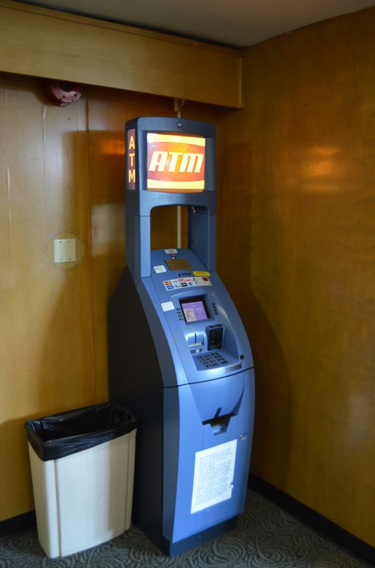 ATM in 40 Berkeley Hostel lobby