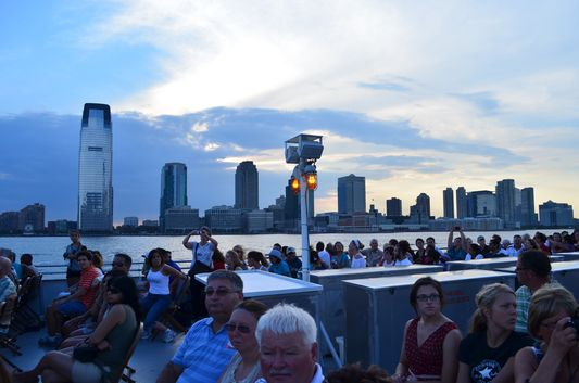 enjoying the views of NYC