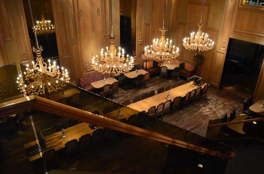 inside Buddakan restaurant - place of rehearsal dinner of SATC