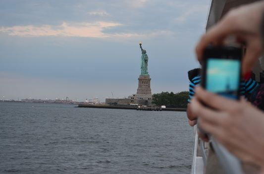 my first view of the Statue of Liberty