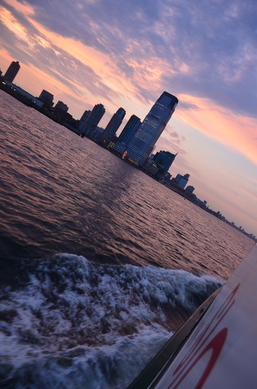 on the way back from the Statue of Liberty