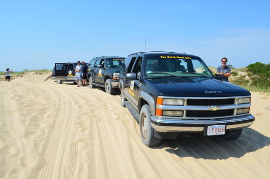 our Art's dune tour jeeps