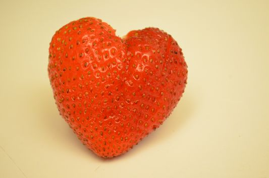 strawberry heart - the last photo I have ever taken with Alex